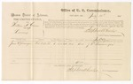 1875 July 28: Voucher for U.S. v. William H. Gaines, larceny; James Swearinger, witness; Stephen Wheeler, commissioner