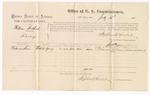 1875 July 28: Voucher for U.S. v. William Northruf, larceny, Deleware Sam, witness; Stephen Wheeler, commissioner; James Fagan, marshal
