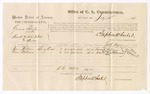 1875 July 28: Voucher for U.S. v. Gabriel Sharper, assault with intent to kill and murder, Isaac Williams and Dave Stephenson, witnesses; Stephen Wheeler, commissioner; James Fagan, marshal