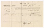 1875 July 30: Voucher for U.S. v. Simeon Boots, larceny, Harry Still, witnesses; Stephen Wheeler, commissioner; James Fagan, marshal