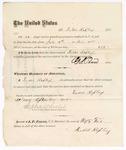 1875 July 31: Voucher to pay Duval Rapley for 26 days of guarding prisoners; J.S. Peirce, jailer; Stephen Wheeler, commissioner