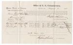1875 August 2: Voucher, U.S. v. Parnner Charlie, alias Charles D. Miller, larceny in Indian country; Ches-ta-da-da-tee, Jim Bob, and To-wa-ka-na Jim, witnesses; Stephen Wheeler, commissioner