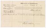 1875 August 03: Voucher, U.S. v. Orlando Gray, introducing spirituous liquor; Jackson Kemp, witness; Stephen Wheeler, commissioner