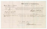 1875 August 04: Voucher, U.S. v. Albert James, assault with the intent to kill; Elizabeth Coleman and Clark Warden, witnesses; Stephen Wheeler, commissioner; James Fagan, marshal