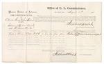 1875 August 4: Voucher, U.S. v. Columbus Gentry and James Summers, introducing spirituous liquors; Richard Monroe, witness; Stephen Wheeler, commissioner; James Fagan, marshal
