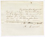 1875 August 04: Letter to James F. Fagan, U.S. Marshal, requesting payment to L.D. [Jermiga] for the account of witness fees and mileage for U.S. v. John Moore; E.B. Harrison, commissioner; also signed A. Durnel
