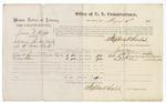 1875 August 06: Voucher, U.S. v. Jackson F. Kliffel, for introducing spirituous liquors; Robert B. Summers and Robert Glenn, witnesses; Stephen Wheeler, commissioner; James F. Fagan