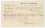 1875 August 6: Voucher, U.S. v. Paul Thompson, larceny , Ben Dillard and Billie Anderson, witnesses; Stephen Wheeler, commissioner