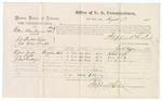 1875 August 7: Voucher, U.S. v. William Milles (charged as Bill Bronge), introducing spirituous liquor into Indian country, Richard Wright, Lora Smith, and Joshua C. Froneberger, witnesses; Stephen Wheeler, commissioner; James F. Fagan, marshal