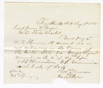 1875 August 17: Letter to James F. Fagan requesting payment to W.F. Sterman for the amount due as witness in the case of U.S. v. George Bryant; E.B. Harrison, commissioner; also signed Pass Henson, William N. Littlejohn, and John Springer.