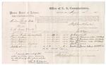 1875 August 20: Voucher, U.S. v. Harlem Pas-Ka-tublie, Murder , Jackson Wright, James Henderson, Morris Henderson, Willis Patterson, M.V. James, and Houston Brown, witnesses; Stephen Wheeler, commissioner; James F. Fagan, marshal; also signed William H. H. Clayton, U.S. Attorney