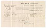 1875 August 24: Voucher, U.S. v. James Boy, larceny , Thomas McGibbrey, Thomas Charles, and Suddlow, witnesses; Stephen Wheeler, commissioner; James F. Fagan, marshal