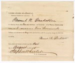 1875 August 24: Proclamation of worth, Pleasant N. Blackstone; Stephen Wheeler, commissioner