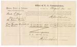 1875 August 24: Voucher, U.S. v. Wade R. West, manslaughter , Visa Grayson and Amy Grayson, witnesses; Stephen Wheeler, commissioner