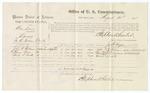 1875 August 30: Voucher, U.S. v. Ben Davis, larceny , John W. Williams, Thomas Boon, and Charles S. Smith, witnesses; Stephen Wheeler, commissioner; James Fagan, marshal
