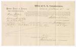 1875 September 4: Voucher, U.S. v. William Whitaker, introducing spirituous liquors; John R. Lyon, witness; Stephen Wheeler, commissioner; James Fagan, marshal