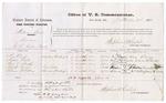 1875 September 9: Voucher, U.S. v. William Binks, larceny; Mrs. Laoch, Mima Taylor, Fred S. Schoeppe, Houston Brown, and Solomon McGilbrey, witnesses; Stephen Wheeler, commissioner; James Fagan, marshal; also signed William H.H. Clayton, U.S. Attorney