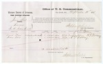 1875 September 10: Voucher, U.S. v. James Story, larceny; David Mays and Andrew Berry, witnesses; Stephen Wheeler, commissioner; James Fagan, marshal