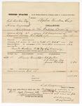 1875 September 11: Voucher, U.S. v. J.A. Becker and Henry Turnbangs, larceny; guards Jackson Wills and S.L. Browning; Stephen Wheeler, commissioner; T.A. Twyman, deputy marshal