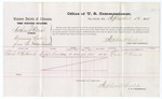 1875 September 13: Voucher, U.S. v. Arthur Elliot, for removing cattle from the Indian Territory for the purpose of trade and commerce; Charles P. Philibrick, witness; Stephen Wheeler, commissioner