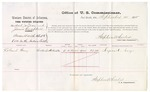 1875 September 14: Voucher, U.S. v. Michael Jordon and James Campbell, assault with intent to kill; LeGrand Gray, witness; Stephen Wheeler, commissioner