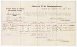 1875 September 16: Voucher, U.S. v. Rube Danfort, larceny in Indian country; Stephen A. Donald, Hadson Harlan, John Ferguson, and Moses Eubanks, witnesses; Stephen Wheeler, commissioner