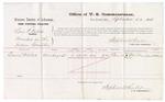 1875 September 23: Voucher, U.S. v. Levi P. Isbell, murder; Daniel Miller, witness; Stephen Wheeler, commissioner