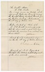 1875 October 5: Voucher, to J.E. Carter, for service as bailiff at the U.S. District Court, includes oath by J.E. Carter stating the accounts to be just and true, E.L. Stephenson, clerk