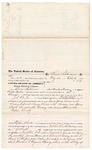 1875 October 05: Voucher, to Lewis Robinson, of near Armstrong Academy in the Choctaw Nation, for service assisting in the arrest of James Howe, Edward Sweeny, Henry Chalk, and Alexander Hamilton; J.T. Cox, Jr., deputy marshal; Stephen Wheeler, commissioner; R.D. Wells, D.C.