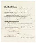 1875 October 7: Voucher, to Jerry Washington, for guarding prisoners at the Fort Smith, Arkansas, jail; G.S. Peirce, jailor; Stephen Wheeler, clerk
