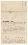 1875 October 8: Voucher, to Joshua C. Irwin, of near Boggy Depot in the Choctaw Nation, for service assisting in the arrest of One Howare, Sim Hurdy, and John Hurdy;  Robert J. Topping, deputy marshal; Stephen Wheeler, commissioner; R.D. Wells, D.C.