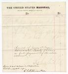 1875 October 8: Voucher, to Dr. F.L. Clarke for medicine and medical attendance on George Star, U.S. prisoner; E.L. Stephenson, clerk; James F. Fagan, U.S. marshal
