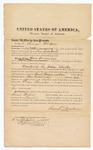 1876 October 13: Bond for witness, Samuel Brookens, for U.S. v. Mose Wooldridge, murder; Stephen Wheeler, commissioner