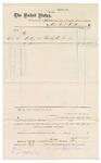 1876 October 15: Voucher, to Sarah Kirkham for making 14 bed socks for prisoners; Duval Rapley, witness