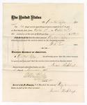 1875 October 20: Voucher, to DuVal Raply, for guarding prisoners at the Fort Smith, Arkansas, jail; G.S. Peirce, jailor; Stephen Wheeler, clerk; by J.A. Williams, D.C.