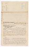 1875 October 21: Voucher, to Thomas H. Smith, of Fayetteville, Arkansas, for assisting J.N. Cooper, U.S. deputy marshal, in the arrest of James Williams, Van and Julia Warford, A.J. Braudenburg, and William Gilcocks; Stephen Wheeler, clerk