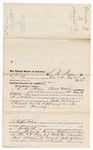 1875 October 28: Voucher, to L.H. Posey, of Creek Nation, for assisting W.S. Whitten, U.S. deputy marshal, in the arrest of John Williams; Stephen Wheeler, clerk; L.H. Fosley