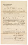 1875 October 29: Bond for defendant, U.S. v. John R. Williams, larceny and the case having been continued from day to day; Edward B. Blanks and Arthur B. Elliot, sureties; Stephen Wheeler, commissioner