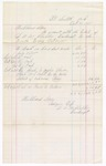 1875 October 31: Account notes of Hubbard Stone in account with the estate of D.A. McHibbin Bankrupt, for the quarter ending October 31 1875; Stephen Wheeler, commissioner