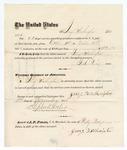 1875 October 31: Voucher, to Jerry Washington, for guarding prisoners at the Fort Smith, Arkansas, jail; G.S. Peirce, jailor; Stephen Wheeler, clerk