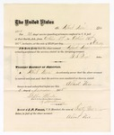 1875 October 31: Voucher, to Albert Neis, for guarding prisoners at the Fort Smith, Arkansas, jail; G.S. Peirce, jailor; Stephen Wheeler, clerk; by J.A. Williams, D.C.
