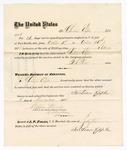 1875 October 31: Voucher, to Christian Epple, for guarding prisoners at the Fort Smith, Arkansas, jail; G.S. Peirce, jailor; Stephen Wheeler, clerk; by J.A. Williams, D.C.