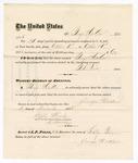 1875 October 31: Voucher, to George Heekler, for guarding prisoners at the Fort Smith, Arkansas, jail; G.S. Peirce, jailor; Stephen Wheeler, clerk; by J.A. Williams, D.C.