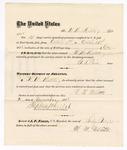 1875 October 31: Voucher, to W.M. Mellette, for guarding prisoners at the Fort Smith, Arkansas, jail; G.S. Peirce, jailor; Stephen Wheeler, clerk; by J.A. Williams, D.C.