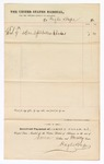 1875 November 09: Voucher, to Haghn and Pope, for chains; received payment of James F. Fagan