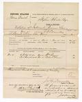 1875 November 20: Voucher, U.S. v. James Smith, violation of internal revenue law; William Reynor and Robert Glenn, witnesses; served by James N. Donnelly, deputy marshal; Stephen Wheeler, clerk
