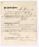 1876 November 30: Voucher, to James A. Davie, for guarding prisoners at the Fort Smith, Arkansas, jail; G.S. Peirce, jailor; Stephen Wheeler, clerk; by J.A. Williams, D.C.