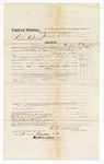 1875 December 21: Voucher, U.S. v. Richard Childs, murder in the Indian country; returned