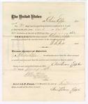 1875 December 31: Voucher, to Christian Epple, for guarding prisoners at the Fort Smith, Arkansas, jail; G.S. Peirce, jailor; Stephen Wheeler, clerk; by J.A. Williams, D.C.