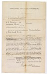 1875 February 22: Assignment of Bankrupt's Effects, H.A. Venney and Co. and Handlin and Venney; Hubbard Stone, assignee; Fay Hempstead, register in Bankruptcy; Ralph Goodwhich, clerk;